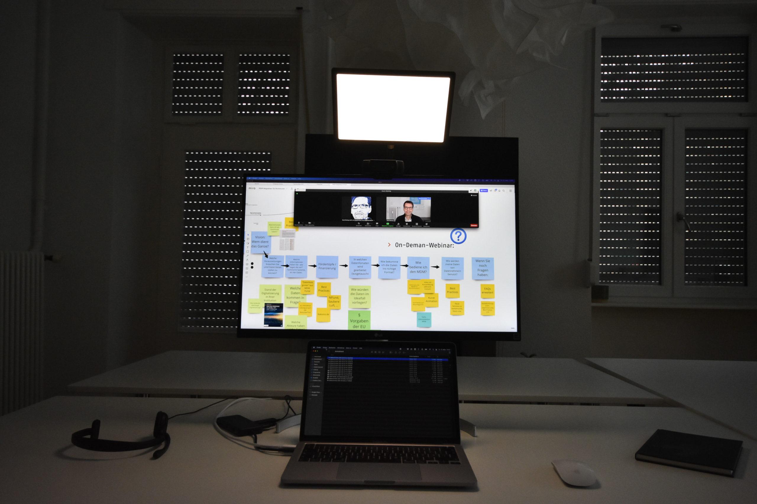 Videokonferenz Licht, Headset, Webcam