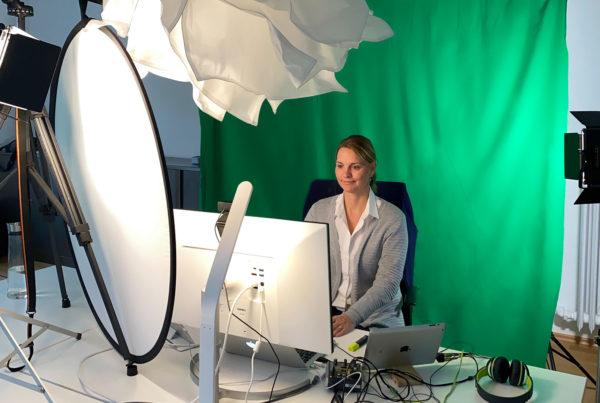 Videokonferenz Technik mit Greenscreen